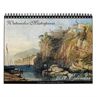 Calendario 2016 de la bella arte de las obras