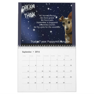 ¡Calendario 2016 de la conciencia de Puppymill de Calendarios