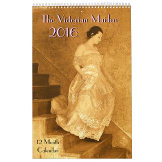 Calendario 2016 de la doncella del Victorian