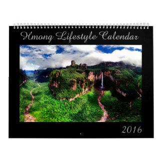 Calendario 2016 de la forma de vida de Hmong