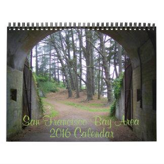 ¡Calendario 2016 de la foto de la área de la Bahía Calendarios De Pared