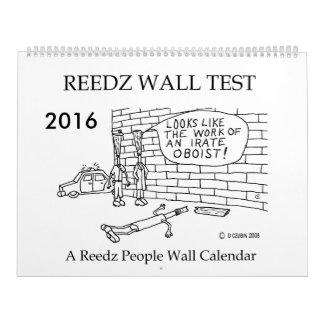 Calendario 2016 de la gente de Reedz de la prueba