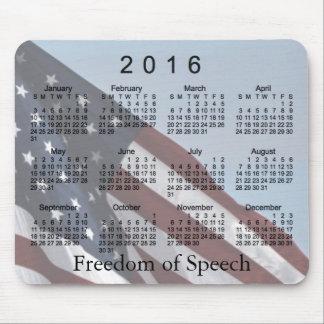 Calendario 2016 de la libertad de Janz Mousepad