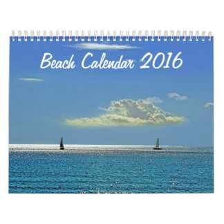 Calendario 2016 de la playa