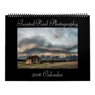Calendario 2016 de la tormenta de la fotografía de