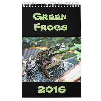 Calendario 2016 de las ranas verdes