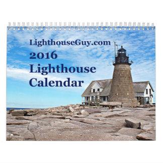 calendario 2016 de LighthouseGuy.com