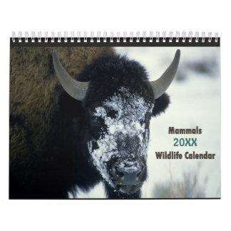 Calendario 2016 de los mamíferos de la fauna