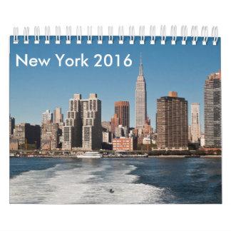 Calendario 2016 de New York City y de Manhattan