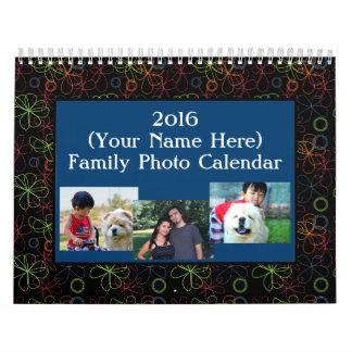 Calendario 2016 de pared de la foto de la
