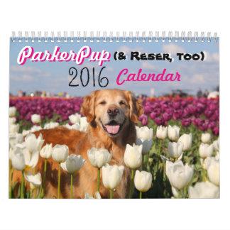 Calendario 2016 de ParkerPup (y Reser, también)