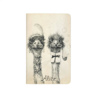Calendario 2016 de Sr. y de señora Ostrich 2015 Cuadernos
