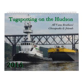 Calendario 2016 de Tugspotting del Chesapeake y de