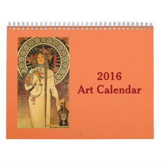 Calendario 2016 del arte