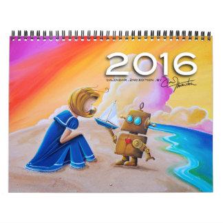 Calendario 2016 del arte de Cindy Thornton