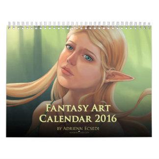 Calendario 2016 del arte de la fantasía de Adrienn