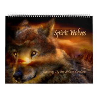 Calendario 2016 del arte de los lobos del alcohol