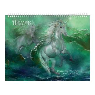 Calendario 2016 del arte de los unicornios