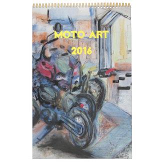Calendario 2016 del arte de Moto