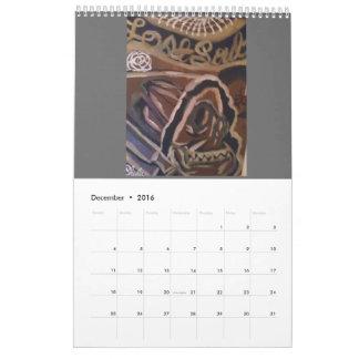 Calendario 2016 del arte del cráneo