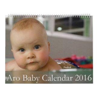 Calendario 2016 del bebé de Aro