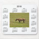 Calendario 2016 del caballo por el cojín de ratón mouse pad