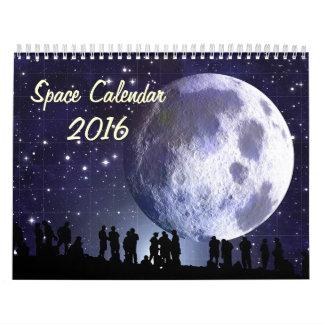 Calendario 2016 del espacio