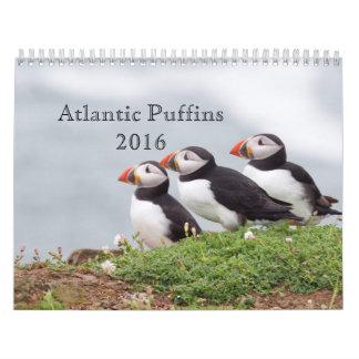 Calendario 2016 del frailecillo atlántico