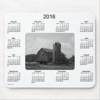 Calendario 2016 del granero por el cojín de ratón alfombrilla de ratones