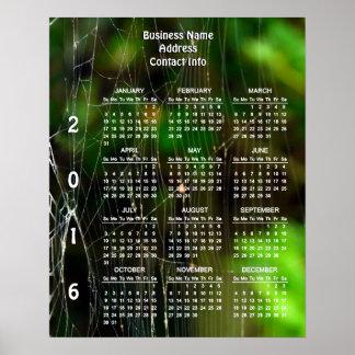 Calendario 2016 del negocio del personalizado de póster