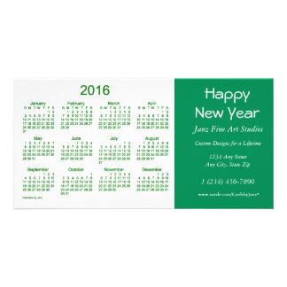 Calendario 2016 del negocio por la tarjeta de la tarjeta fotográfica personalizada