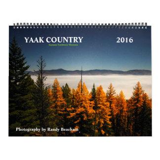 Calendario 2016 del país de Yaak