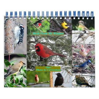 Calendario 2016 del pájaro de mi ventana