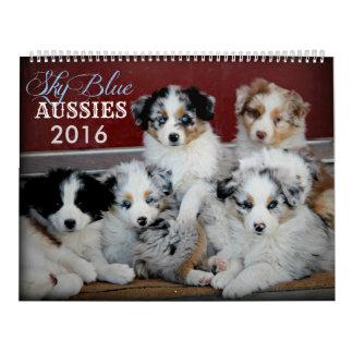 Calendario 2016 del perrito de los australianos
