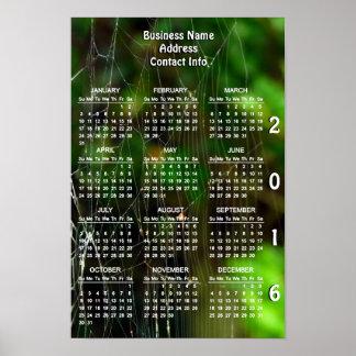 Calendario 2016 del promo del negocio del póster
