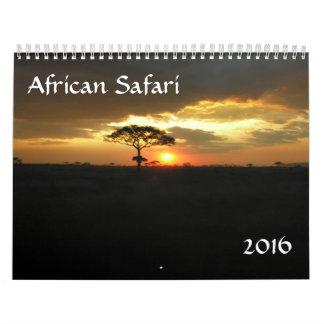 Calendario 2016 del safari de Tanzania