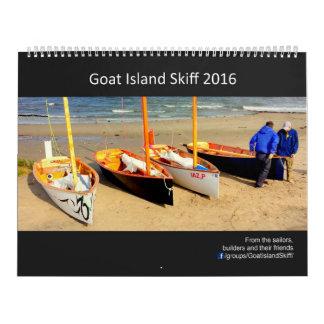 Calendario 2016 del Skiff de la isla de la cabra