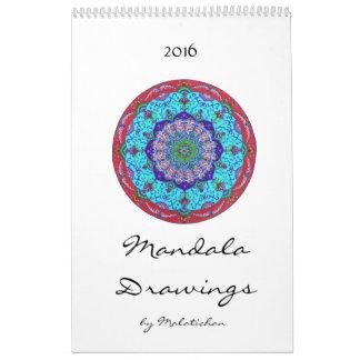 Calendario 2016 (dibujos) de la mandala