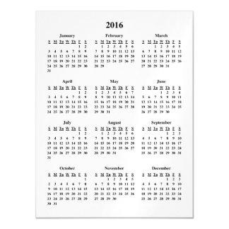 Calendario 2016 invitaciones magnéticas