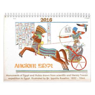 Calendario 2016: Monumentos del vintage de Egipto
