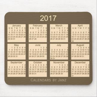 Calendario 2017 de Brown por el cojín de ratón de Tapetes De Raton