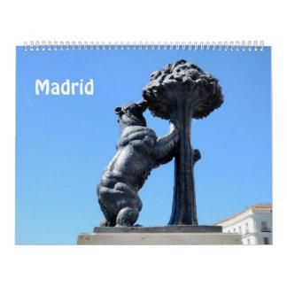 calendario 2017 de la foto de Madrid de 12 meses