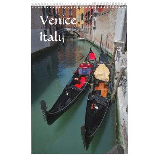 calendario 2017 de la foto de Venecia de 12 meses