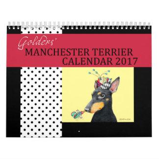 Calendario 2017 de Manchester Terrier