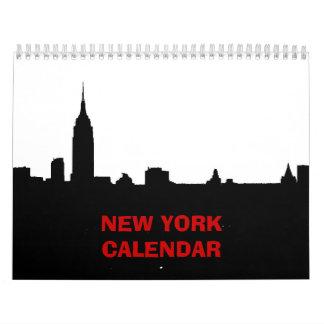 Calendario 2017 de Nueva York (negro y blanco)