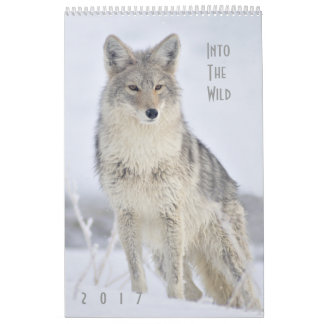 Calendario 2017 de pared de la fauna - en el