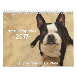 Calendario 2017 de Pheelosophees
