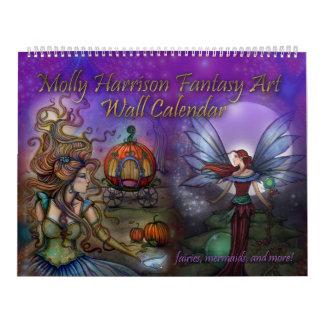 Calendario 2017 del arte de la fantasía por Molly