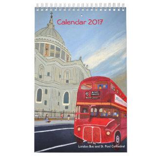 Calendario 2017 del autobús de Londres