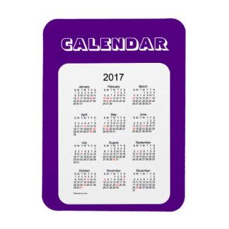 Calendario 2017 del día de fiesta del añil por el imanes flexibles